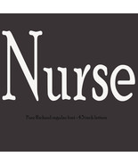 Nurse letters poor richard font vinyl lettering decal sticker ready to a... - £3.68 GBP