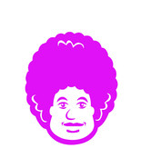 50's 60's big hair face decal ready to apply UV resistant window decal - £5.84 GBP