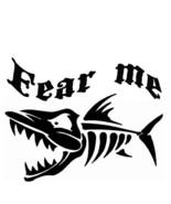 Fisherman boney fish fear outdoor vinyl decal boat decal kayak decal - £6.30 GBP