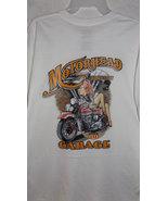 Large 42-44 Motorhead white cotton t-shirt mens tee woman on bike graphi... - £10.45 GBP