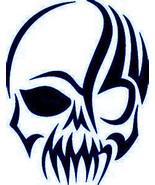 Tribal skulls head vinyl outdoor decal kayak, car, trucks, windows, boats - £5.62 GBP