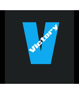 Victory V vinyl lettering decal outdoor vinyl UV resistant 7 inch just a... - £5.38 GBP