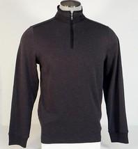 Perry Ellis Black Cotton Blend 1/4 Zip Long Sleeve Sweater Mens NWT - $63.74