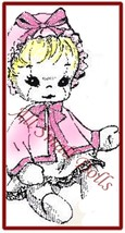 """Vintage Cloth Doll Pattern for 15"""" Baby Doll wi/Layette ~ no - $6.99"""