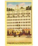 Park Hotel Hot Springs AR Arkansas Vintage Linen Postcard - $4.95