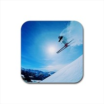 Skiing Extreme Sports Bottle Opener Keychain and Beer Drink Coaster Set - $7.71+