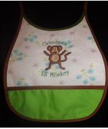 Grandma's Little Monkey baby bib IN STOCK - $10.00
