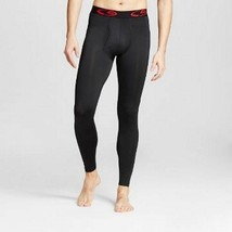 Men's Performance Base Layer Tights C9 by Champion Black with Red Logo Pants