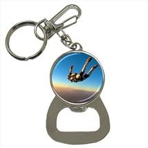 Sky Diving Bottle Opener Keychain and Beer Drink Coaster Set - $7.71+