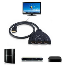 Sale 3 Port HDMI Multi Display Auto Switch Hub Box Splitter 1080P HD TV ... - $7.57