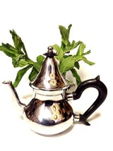Moroccan Serving Tea Teapot Stainless Steel Morocco Mint Tea Small 4 Cup... - $28.70