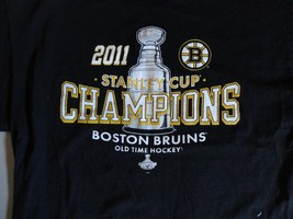 NHL Boston Bruins Old Time Hockey 2011 Stanley Cup t shirt  L Free US SH... - $17.17