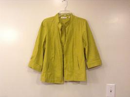 Coldwater Creek Lightweight Mustard Yellow Blouse Shirt Jacket, size PXL (18)