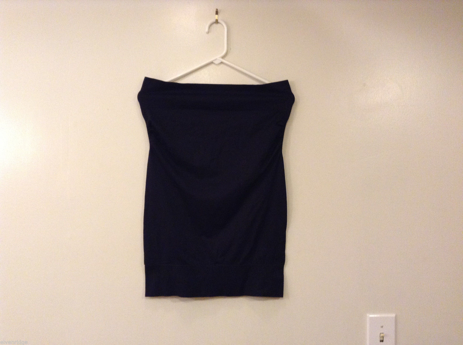 Charlotte Russe Black Nylon Stretch Sleeveless Strapless Mini Dress, size L/XL