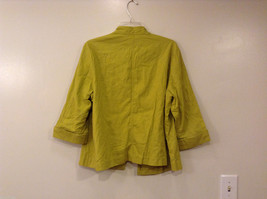 Coldwater Creek Lightweight Mustard Yellow Blouse Shirt Jacket, size PXL (18) image 2