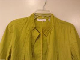 Coldwater Creek Lightweight Mustard Yellow Blouse Shirt Jacket, size PXL (18) image 3