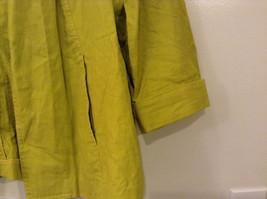 Coldwater Creek Lightweight Mustard Yellow Blouse Shirt Jacket, size PXL (18) image 5