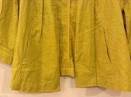 Coldwater Creek Lightweight Mustard Yellow Blouse Shirt Jacket, size PXL (18) image 4