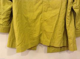 Coldwater Creek Lightweight Mustard Yellow Blouse Shirt Jacket, size PXL (18) image 7