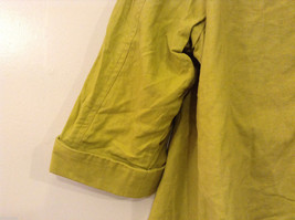 Coldwater Creek Lightweight Mustard Yellow Blouse Shirt Jacket, size PXL (18) image 8