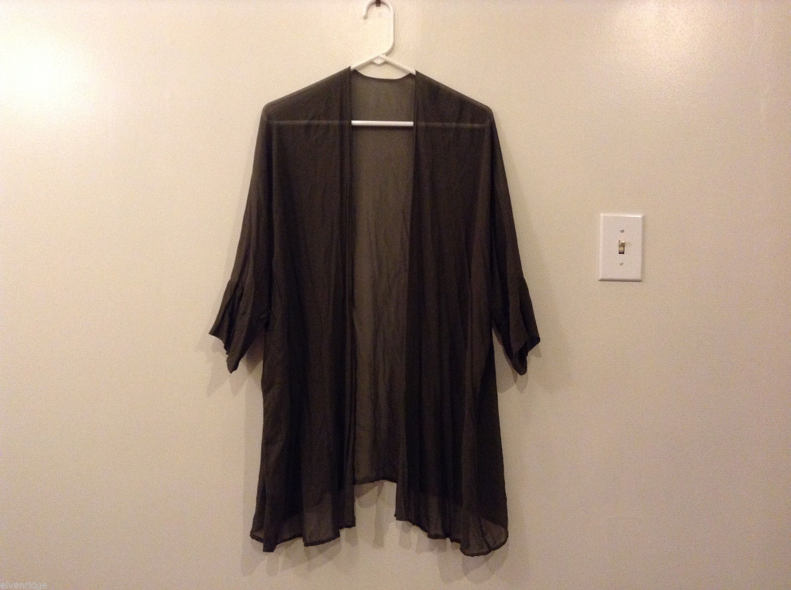 Ladies Homemade (no brand name) Dark Olive Green Cover Up Blouse, Size XL NO tag