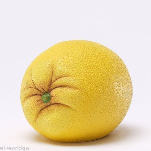 Produce Pals Sourpuss the Yellow Lemon   Play w your Food Sculpted Figurine