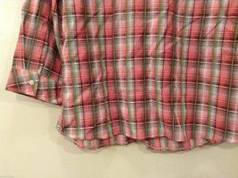 Rebecca Malone Plaid 3/4 Sleeve Shirt Blouse Front Buttons Multicolor, size L image 7
