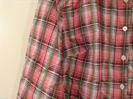 Rebecca Malone Plaid 3/4 Sleeve Shirt Blouse Front Buttons Multicolor, size L image 5