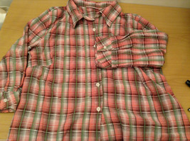 Rebecca Malone Plaid 3/4 Sleeve Shirt Blouse Front Buttons Multicolor, size L image 10