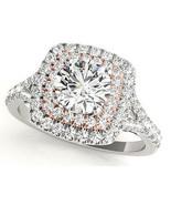 Aura™ 14K White Gold 3/4ct.tw Diamond Double Halo Ring - $999.00