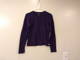 Womens American Eagle Stretch Long Sleeve Eggplant color T-Shirt, Size M