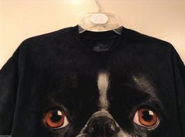 The Mountain Black 100% Cotton Boston Terrier Face Print T-shirt, size XL image 4