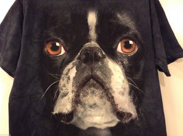 The Mountain Black 100% Cotton Boston Terrier Face Print T-shirt, size XL image 3