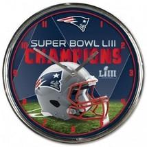 "New England Patriots Super Bowl LIII CHAMPIONS 12"" Diameter Wall Clock - $39.98"