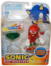 """Sonic the Hedgehog: Sonic Knuckles 3"""" Action Figure With Accessories Emerald NEW - $79.99"""