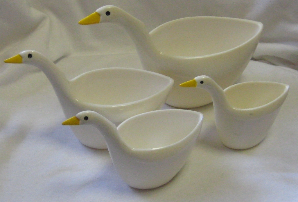 Primary image for VINTAGE GEESE OR DUCK STACKABLE MEASURING CUPS