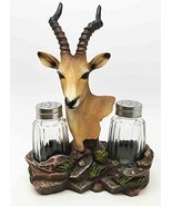 SAVANNA PLAINS KUDU ANTELOPE SALT PEPPER SHAKER HOLDER FIGURINE by ATL - $19.99