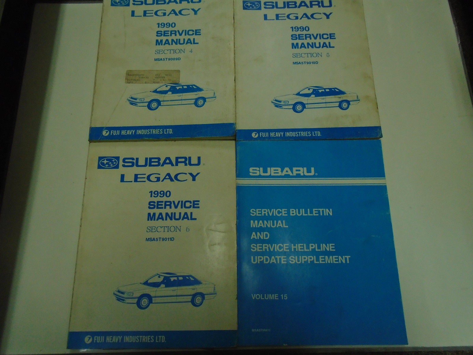 1990 Subaru Legacy Service Manual Shop Repair Books FACTORY OEM Incomplete SET