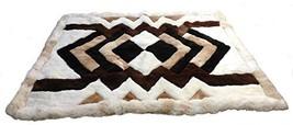 Alpakaandmore Original Peruvian Alpaca Fur Rug Tornillo Designs Natural Brown... - $103.95