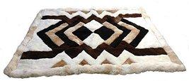 Alpakaandmore Original Peruvian Alpaca Fur Rug Tornillo Designs Natural Brown... - $153.45