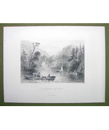 CANADA Lake Farm on Frontier - 1880s Antique Pr... - $17.82
