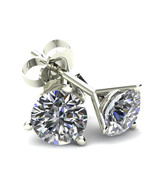 1.50ct Round Brilliant Cut Natural Diamond Stud Earrings In 14K Gold - $1,189.00