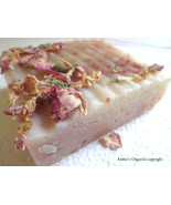 Organic Pink Sandalwood Rose Petal Handcrafted Soap -  Infused Shea Butt... - $3.50