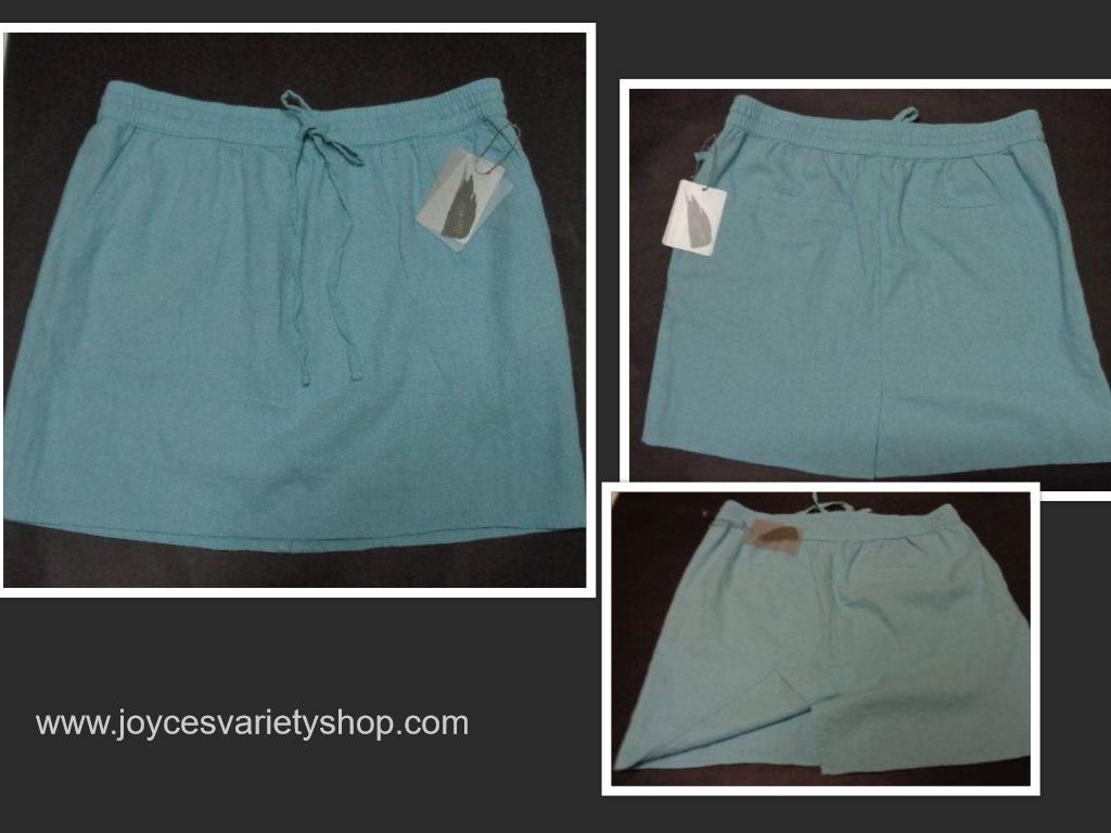 Forever 21 blue beach skirt collage