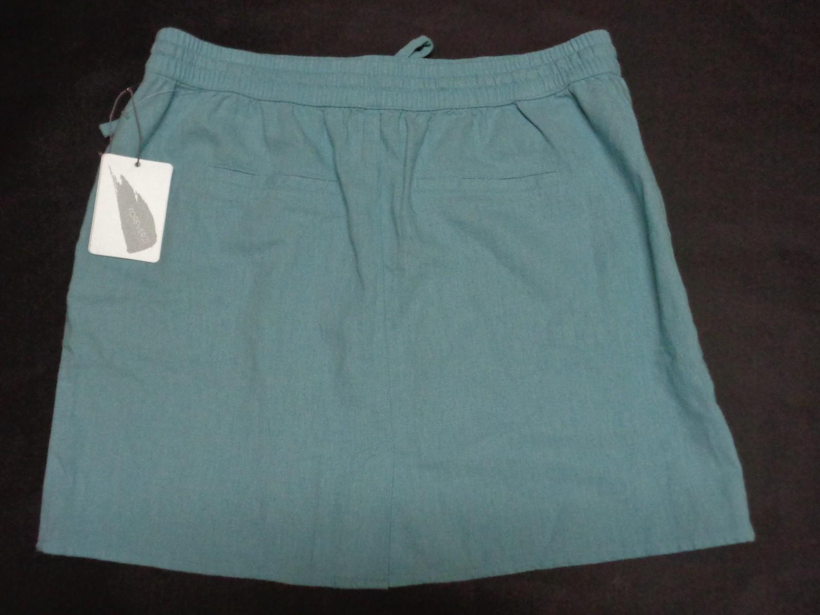 Forever 21 Blue Beach Linen Mini Skirt NWT Size M