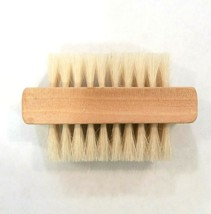 2  Sided Wooden Nail Brush with Natural Bristles - $3.58