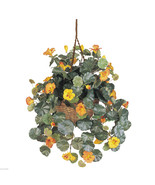 Nearly Natural Silk Nasturtium Hanging Plant with Basket - $54.99