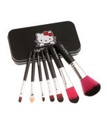 Hello Kitty 7-Piece Brushes Travel Size Makeup Brush Set - £30.13 GBP