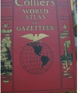 Vintage 1935 Collier's World Atlas and Gazetteer  Hard Cover Book - $39.95