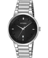 Brand New Citizen Quartz BI5010-59E Men's Stainless Steel Black Dial Dre... - £67.36 GBP